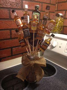 Burlap Alcohol Bouquet