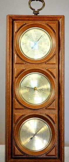 Vintage Springfield Barometer Weather Station Mid Century Wall Decor #Springfield