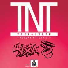TNT - Texta & Topf: Traumatik Tour 2.0 // 26.03.2015 - 10.04.2015  // 26.03.2015 20:00 STUTTGART/WAGENHALLEN // 28.03.2015 21:00 HEIDELBERG/Kulturhaus Karlstorbahnhof // 02.04.2015 21:00 BERLIN/SO 36 // 03.04.2015 21:00 HAMBURG/Mojo Club // 04.04.2015 21:00 MÜNSTER/Skaters Palace // 05.04.2015 20:00 PFARRKIRCHEN/Club Bogaloo // 08.04.2015 20:00 KÖLN/Essigfabrik // 09.04.2015 20:00 ERLANGEN/E-Werk Erlangen // 10.04.2015 20:30 MÜNCHEN/Technikum Kultfabrik // 10.04.2015 20:30…