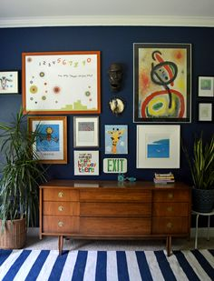 Making Bold Moves with Navy: Before and After- design addict mom