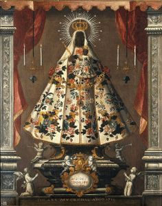 Nuestra Señora de GuadalupeAn 18th century Mexican painting of the miraculous statue of Our Lady of Guadalupe, venerated in the Spanish province Extremadura.
