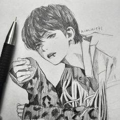 kkuluyu bts art in bts, bts drawings - bts anime drawing Kpop Drawings, Pencil Drawings, Drawing Sketches, Bts Art, Boy Sketch, Taehyung Fanart, Kpop Fanart, Disney Fan Art, Art Inspo