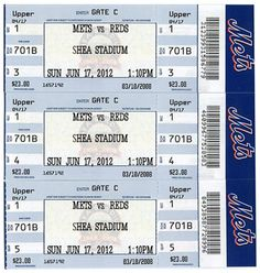 Father's Day Gift Guide - New York Mets vs. Cincinnati Reds tickets. Whaaaa? It's cute how wrong this is. Shea in 2012? And June 17 sounds an awful lot like a Yankees day, not a Reds day, although I don't care to take the time to check that right now.