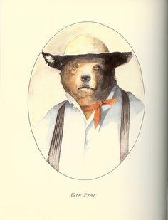 Barry Moser Brer Bear illustration for Brer rabbit story. Love his watercolors.