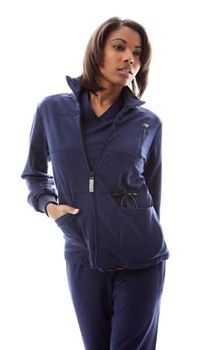 New Balance Healthcare Stat Women's Scrub Jacket 300  Fabric  PerforMed™ Core 62% Poly/ 34% Rayon/ 4% Spandex  PerforMed™ Core woven features the softness demanded by healthcare workers, with a new focus on stretch. The super-soft blend also boasts Lightning Dry® comfort-management technology and an anti-wrinkle finish to keep healthcare professionals looking sharp all shift long.  Innovations  •Covered Zipper Chest Pocket  •Accent Zipper Pull with NB Logo  •NB Branded Twill Tape  Details…