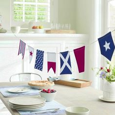 Red, white and blue for every room!  Add some patriotic flare to your home. Shop American flag d�cor today!