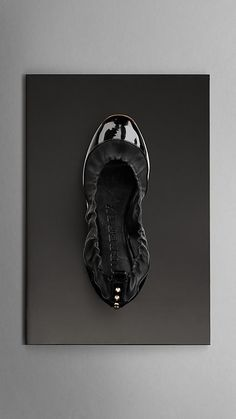 Stud Detail Patent Leather Ballerinas | Burberry