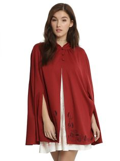 Disney Beauty And The Beast Belle Cape APPROVE 2/23, RED