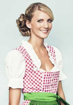 Wiesn frisuren mit pony