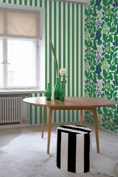 Green Green wallpaper mural