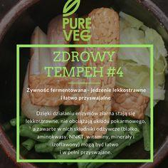 Tempeh to żywność fermentowana, a więc lekkostrawna i łatwo przyswajalna. Po tempeh na http://www.pureveg.pl   #tempeh #tempehbio #pureveg