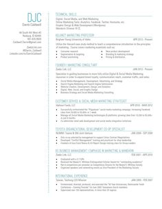 My new #resume #design! With a touch of blue. :)   #resumedesign #design #typography