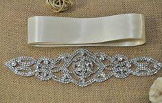 DIY Wedding Sash Applique  DIY weddings diy by TheBrightShopDIY, $18.75