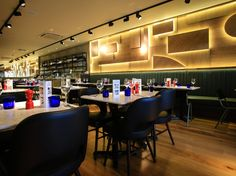 Pizza Express New Malden Our brief was to create a sophisticated environment that also took inspiration from the approach of the sculptor Anthony Caro
