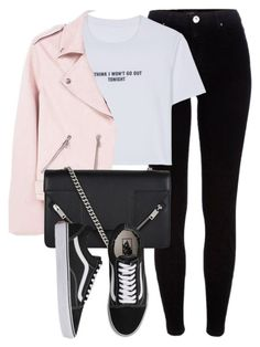 """Untitled #6595"" by laurenmboot ❤ liked on Polyvore featuring River Island, WithChic, MANGO, Yves Saint Laurent and Vans"