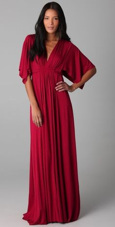 Meet my new maxi. My favorite kind of dress in my favorite kind of color: vibrant red.