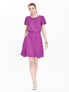 Banana republic purple lace dress
