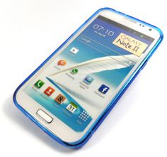 (Blue) S Line Gel Case for Samsung Galaxy Note II