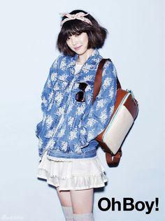 "Magazine ""Oh boy!""- Sulli of f(x) Japanese Fashion, Korean Fashion, Kpop Fashion, Womens Fashion, South Korean Girls, Korean Girl Groups, Asian Woman, Asian Girl, Choi Jin"