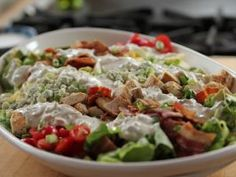 Cobb Salad with Blue Cheese Dressing // The Pioneer Woman