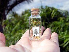 Today I Have Loved You For So Many Days. Mensaje en una botella. Miniaturas. Regalo personalizado. Alternativa a la postal tradicional. de EyMyMessage en Etsy