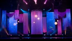 back drops for church stage | Rose Brand: String Curtains at the Arnold Classic Project