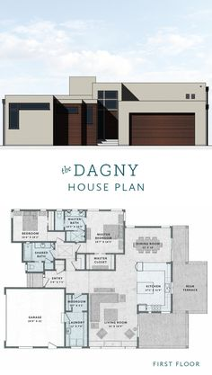The Dagny House is a 2 Bedroom, 2 Bathroom house plan by Tim Barber House & Home