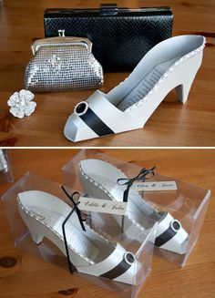 3D High Heel Shoe Invitation - use the Cricut Princess cartridge!-cute for a bach. party, or princess party
