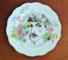 Peeping Tom hand painted vintage bone china by trixiedelicious