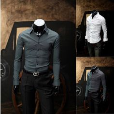 Mens Dot Shirts Handsome Business Luxury Dress Fashion Casual Designer Mens Shirts