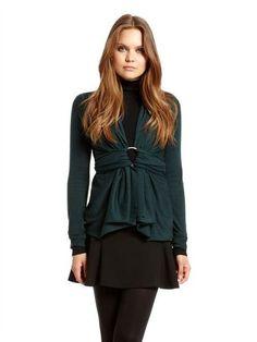 DKNY Donna Karan Signature Ring for The DKNY Cozy Cardigan Wrap Sweater | eBay
