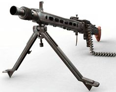 German theory ran that a gunner would only have a few seconds to fire at the enemy before they took cover. It was thought that the more rounds he could fire in this time, the more casualties he could cause. It proved to be a dreadfully effective tactic. Mg34, Heavy And Light, Assault Weapon, Armed Forces, World War Ii, Firearms, Wwii, Weapons, Engineering