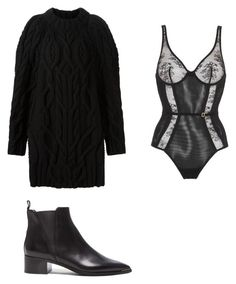 """""""secrets"""" by thispersonsays ❤ liked on Polyvore featuring Vera Wang, La Perla and Acne Studios"""