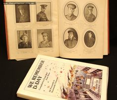 Lot 361 - 2 x vintage hardcover military volumes - The Education Departments Record of War Service 1914-1919, We Remember D-Day