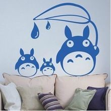 Totoro Decal japonaise Cartoon Totoro Decal Stickers muraux décorations décoration de la maison de Totoro Decal(China (Mainland))