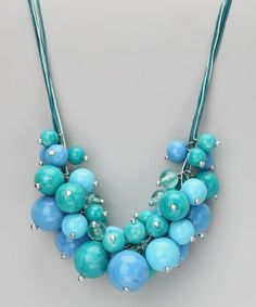 Take a look at this Alexa Starr Jewelry Blue Beaded Cluster Necklace by Alexa Starr Jewelry on #zulily today!
