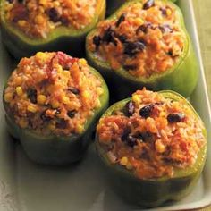 Vegetable-Stuffed Peppers Recipe from Taste of Home -- shared by Sandra Allen of Austin, Texas