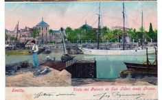 España Postal Sevilla Palacio de San Telmo desde Triana (CB-676) | eBay