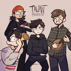 Fanart, Minecraft Fan Art, Dream Art, Dream Team, Music Stuff, Music Bands, Cool Bands, Wall Collage, Pretty Boys