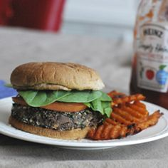 Vegetarian, Low Calorie, Tasty, Stay-Together Black Bean Burgers