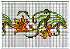 Moderne Stickerei-Vorlagen, Secession, Jugend-Styl, page 6. c. 1915. Art Nouveau cross-stitch, flowers.