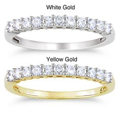 @Overstock.com - Miadora 14k Gold 1/3ct TDW Diamond Ring (G-H, SI1-SI2) - This lovely Miadora 14k gold diamond ring is available in white or yellow gold, and it features eleven round-cut diamonds with a total weight of 1/3 carat. Perfect for a wedding or anniversary, the polished gold band is 2.2 mm wide and weighs 2 grams.  http://www.overstock.com/Jewelry-Watches/Miadora-14k-Gold-1-3ct-TDW-Diamond-Ring-G-H-SI1-SI2/6525312/product.html?CID=214117 $659.99