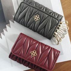 982287c6834d Genuine Handmade leather folded vintage women men wallet key holder