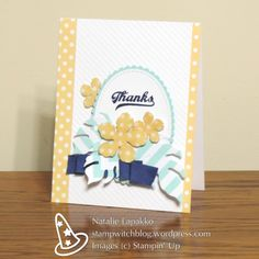 Thank you card by Natalie Lapakko with Botanical Builders Framelit Dies and Jar of Love stamps from Stampin' Up! #GDP064
