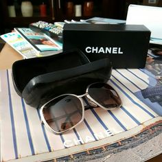Authentic  Chanel  Sunglasses Frames Sell for the frames as the lenses  are really scratched  you can see out of them but i had planed to replace and put my prescription in these and u can do the same or nust add new  sunglass lenses  comes with case and box! CHANEL Accessories Sunglasses