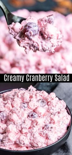 Salad Home Made Interest Creamy Cranberry Salad This Creamy Cranberry Salad otherwise known as Cranberry Fluff is a delicious combination of fresh cranberries red grape. Fresh Cranberry Recipes, Healthy Holiday Recipes, Thanksgiving Recipes, Holiday Foods, Holiday Treats, Christmas Treats, Cranberry Fluff, Cranberry Salad, Christmas Side Dishes