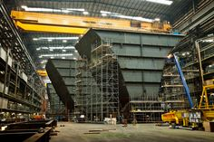 Ever wondered how they build Aircraft Carriers, photographer Anthony Dickenson takes a look.