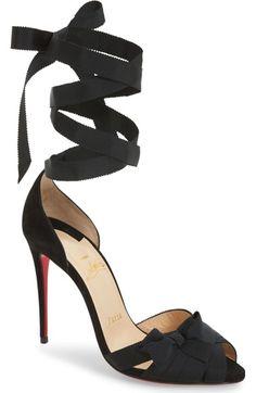 Christian Louboutin Christervia Ribbon Sandal (Women) available at  #Nordstrom · Ribbon ShoesRibbon ...