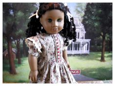 "American Girl Doll 18"" 1850s Historical Dress, American Girl Doll Day Dress, 1850s Collectors Doll Dress by BonJeanCreations on Etsy"