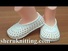 Easy to Crochet Summer Baby Shoes Tutorial 226 - YouTube